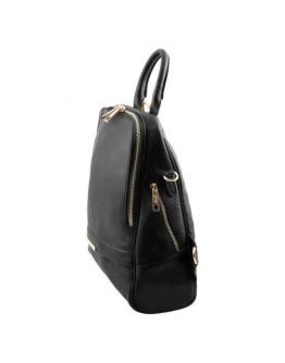 Женский кожаный черный фирменный рюкзак Tuscany Leather TL141376 black