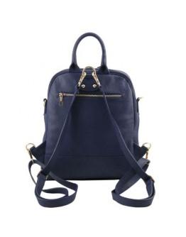 Темно-синий женский фирменный рюкзак Tuscany Leather TL141376 blue