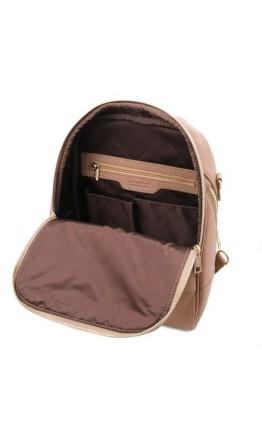 Женский кожаный бежевый рюкзак Tuscany Leather TL141376 shamp