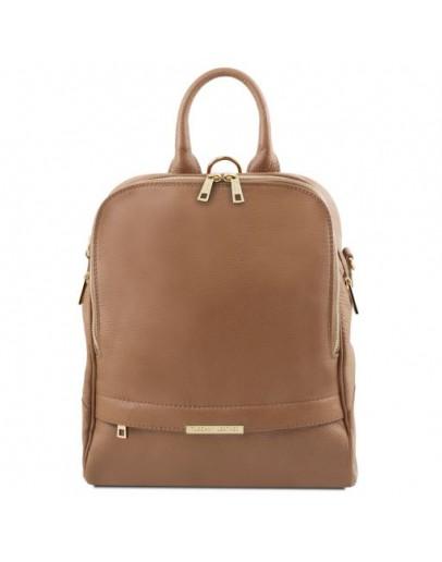 Фотография Женский кожаный бежевый рюкзак Tuscany Leather TL141376 shamp