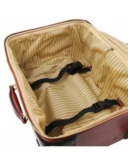 Дорожная черная сумка на колесах TL VOYAGER Tuscany Leather TL141390