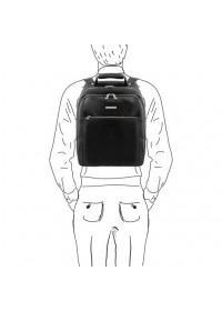 Черный кожаный мужской рюкзак Tuscany leather PHUKET TL141402