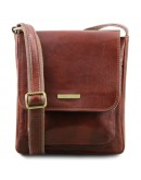 Фотография Мужская коричневая сумка через плечо Tuscany Leather TL141407