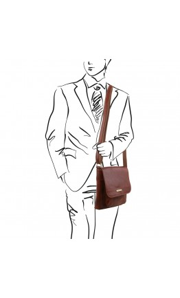 Мужская коричневая сумка через плечо Tuscany Leather TL141407