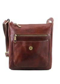 Мужская черная сумка через плечо Tuscany Leather TL141407 bl