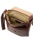 Фотография Коричневая мужская плечевая кожаная сумка Tuscany Leather TL141408