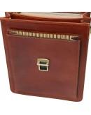 Фотография Мужская темно-коричневая кожаная барсетка Tuscany Leather TL141424