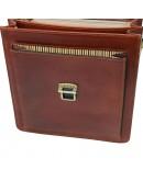 Фотография Кожаная коричневая небольшая барсетка Tuscany Leather TL141425