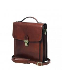 Кожаная коричневая небольшая барсетка Tuscany Leather TL141425