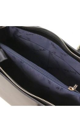 Женская черная кожаная сумка Tuscany Leather Aura TL141434 black