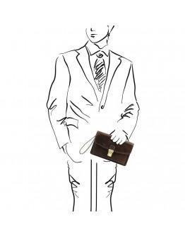 Мужская кожаная барсетка - клатч Tuscany Leather TL141444