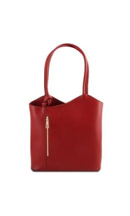 Женская кожаная красная сумка Tuscany Leather Party TL141455