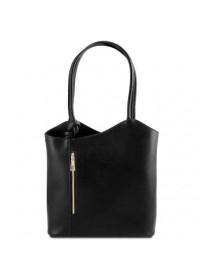 Черная кожаная женская сумка Tuscany Leather Party TL141455 black