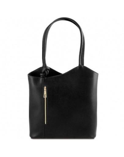 Фотография Черная кожаная женская сумка Tuscany Leather Party TL141455 black