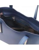 Фотография Синяя женская кожаная сумка Tuscany Leather Olimpia TL141521 blue