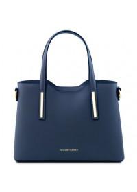 Синяя женская кожаная сумка Tuscany Leather Olimpia TL141521 blue