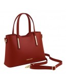 Фотография Красная женская кожаная сумка Tuscany Leather Olimpia TL141521 red