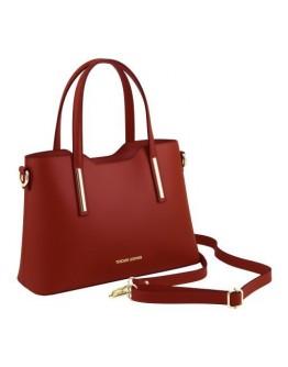 Красная женская кожаная сумка Tuscany Leather Olimpia TL141521 red