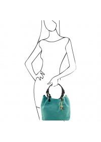 Женская кожаная бирюзовая сумка Tuscany Leather TL Bag TL141573 TL KeyLuck bir