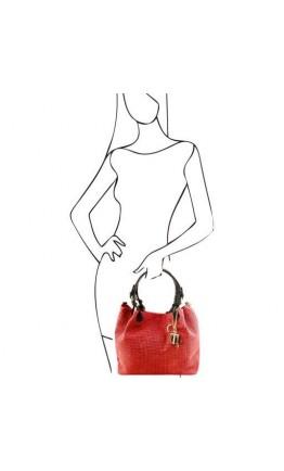 Женская сумка шоппер Tuscany Leather TL Bag TL141573 TL KeyLuck lipstick red