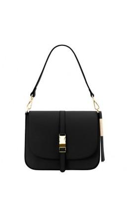 Кожаная женская сумка на плечо и в руку Tuscany Leather TL141598 Nausica black