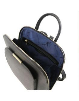 Черный женский кожаный рюкзак Tuscany Leather Olimpia TL141631