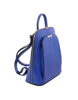 Синий женский кожаный рюкзак Tuscany Leather Olimpia TL141631 blue