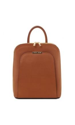 Коричневый женский кожаный рюкзак Tuscany Leather Olimpia TL141631 brown