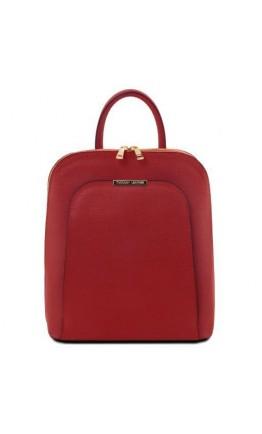 Красный рюкзак из сафьяновой кожи Tuscany Leather Olimpia TL141631 red