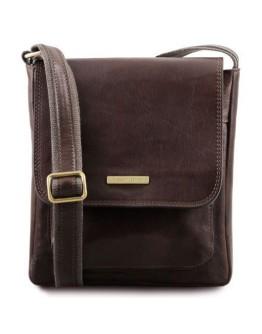 Темно-коричневая мужская кожаная сумка на плечо Tuscany Leather TL141407 bbrown
