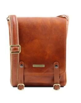 Мужская сумка на плечо медового цвета Tuscany Leather TL141406 honey