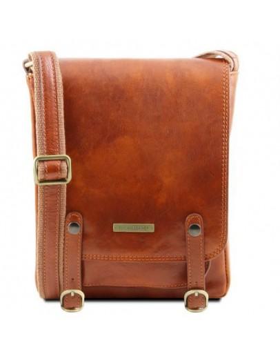 Фотография Мужская сумка на плечо медового цвета Tuscany Leather TL141406 honey