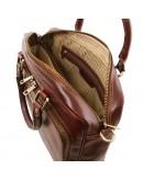 Фотография Кожаная черная сумка-портфель для ноутбука Tuscany Leather TL141660