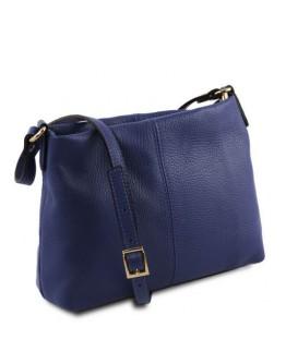 Темно-синяя женская сумка на плечо Tuscany Leather TL141720