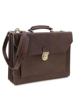 Вместительный оригинальный портфель на 3 отделения Tuscany Leather Cremona TL141732
