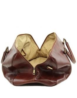 Коричневая дорожная мужская фирменная сумка Tuscany Leather Voyager TL141794