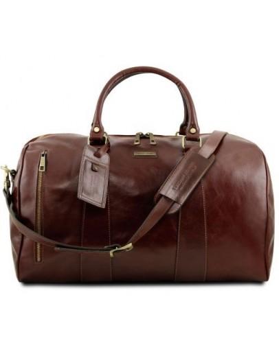 Фотография Коричневая дорожная мужская фирменная сумка Tuscany Leather Voyager TL141794
