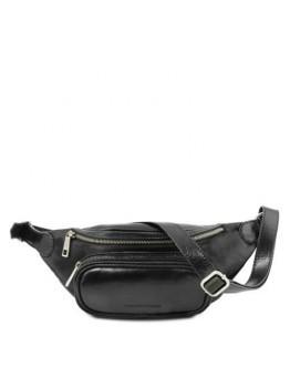 Черная фирменная сумка на пояс TUSCANY LEATHER TL141797 black