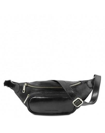 Фотография Черная фирменная сумка на пояс TUSCANY LEATHER TL141797 black