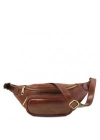 Коричневая фирменная сумка на пояс TUSCANY LEATHER TL141797 brown