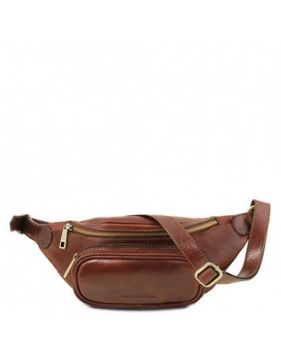 Фотография Коричневая фирменная сумка на пояс TUSCANY LEATHER TL141797 brown
