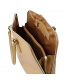 Фотография Женская кожаная сумка в цвете шампань Tuscany Leather Magnolia TL141809 beg