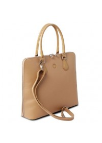Женская кожаная сумка в цвете шампань Tuscany Leather Magnolia TL141809 beg