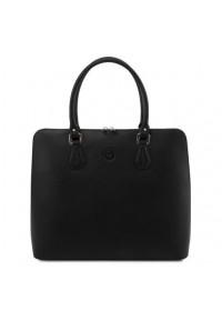 Черная фирменная женская сумка Tuscany Leather Magnolia TL141809 black