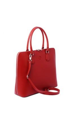 Красная женская кожаная сумка Tuscany Leather Magnolia TL141809 red