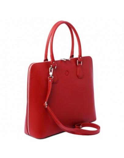 Фотография Красная женская кожаная сумка Tuscany Leather Magnolia TL141809 red