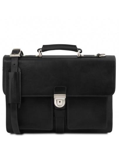 Фотография Кожаный портфель на 3 отделения Tuscany Leather Assisi TL141825 black