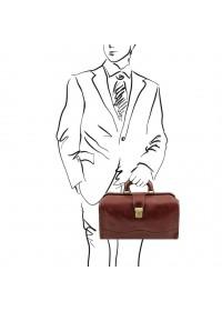 Кожаный фирменный итальянский мужской саквояж Tuscany Leather TL141852 Raffaello