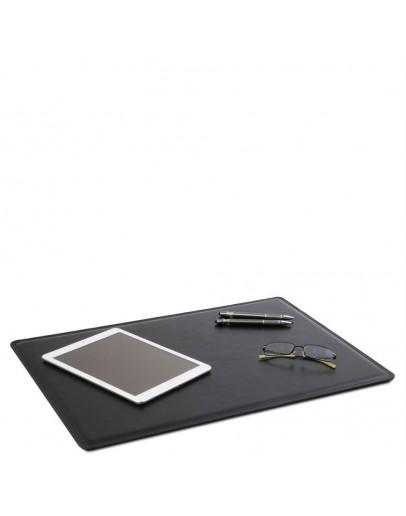 Фотография Черный кожаный фирменный коврик на рабочий стол Tuscany Lether TL141892