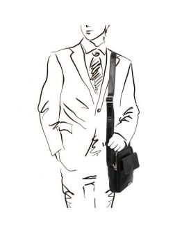 Мужская фирменная сумочка на плечо Tuscany Leather LARRY TL141915